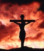 This is a cross that symbolizes mans evil and Gods mercy