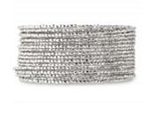 Bardot Spiral Bracelet- Silver