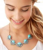 RORY NECKLACE - BLUE $20 (65% OFF)
