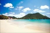Sandy beaches like Reduit Beach