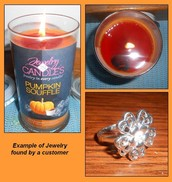 The candles with jewelry inside!