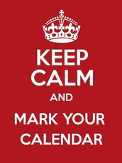 Mark your calender-