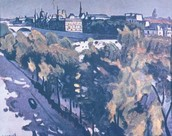 A. Marquet. Louvre'i kaldapealne ja Pont-Neuf