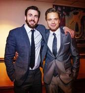 Chris Evans (left) and Sebastian Stan (right)