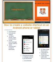 Create a website shortcut on Android devices
