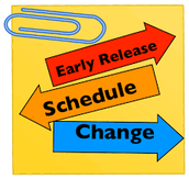 Early Release Schedule for 2015-2016