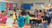 Mrs. Jimenez's Class Practicing Hand Signals