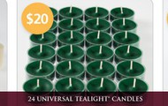 24 Tealight Candles  for $20