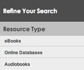 "Choose ""Online Databases"""