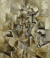 Violin and Candlestick -Georges Braque