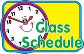 Class Schedule Update: