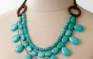 Thread Turquoise Necklace