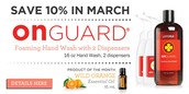 SAVE 10% in March on OnGuard Foaming Hand Wash with 2 Dispensers