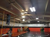 Lighting upgrade in our Wrestling Complex