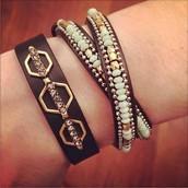 Terra Leather Bracelet ($49) & Sierra Double Wrap Bracelet ($59)