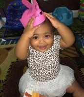 Lilliana working her birthday crown