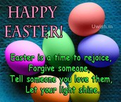 Happy easter greeting wallpaper