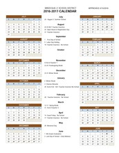 NEW! Next year's 2016-2017 Minocqua J1 Calendar
