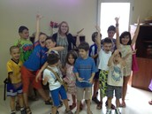 My beginner's English class.  They learned so much during the month of classes, and had fun!