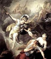 Athena using her powers