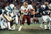 Super Bowl 17, The Washington Redskins vs The Miami Dolphins