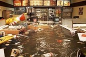 Mcdonalds flooded