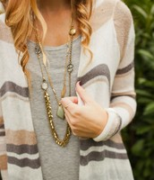 Gilded Reeds Long Necklace | Cassablanca Long Necklace