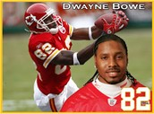 Dwayne Bowe is my favorite footall player.
