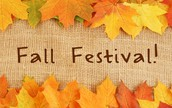 FALL FESTIVAL IS OCT 21st 5:30-8 pm!