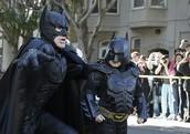 The batman with  Bat-kids