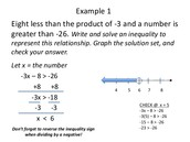 Writing Inequalities