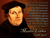 Luther and one of his famous quotes