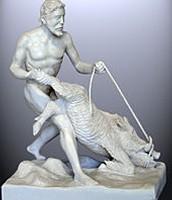 Hercules capturing the Erymanthian Boar