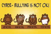 What should I do if I hear about a cyberbully?