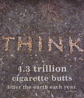 Cigarette litter.