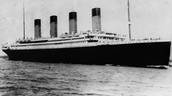 The titanic before hitting the iceburg