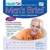HealthDri Men's Moderate Reusable Cotton Briefs