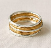 Stackable Band Rings-Size 8