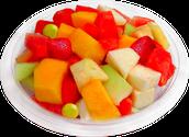 Cóctel de frutas de colores.