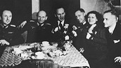 Oskar Schindler at a Nazi party
