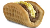 A waffle taco from taco bell.