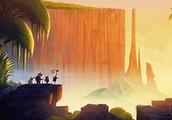 Cliffs apear