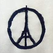 A symbol of support about the attacks in Paris
