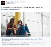 CHS- Top Schools in Texas & DFW!