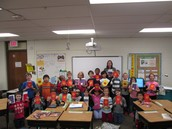 Third grade shows off their new books!