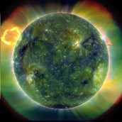 sun in extreme ultra violet rays