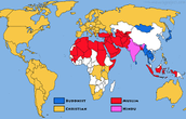 map of religion for islam