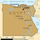 Location of Egypt's capital city Cairo
