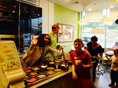 A little scooping fun with 6th Grader Jack