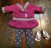 Bitty Baby Purple Play Outfit $15